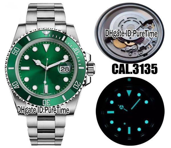 2018 Top nV9 Best Edition svizzero Cal.3135 ETA 3135 movimento automatico verde ceramica lunetta quadrante verde orologio da uomo blu luminoso acciaio 904L