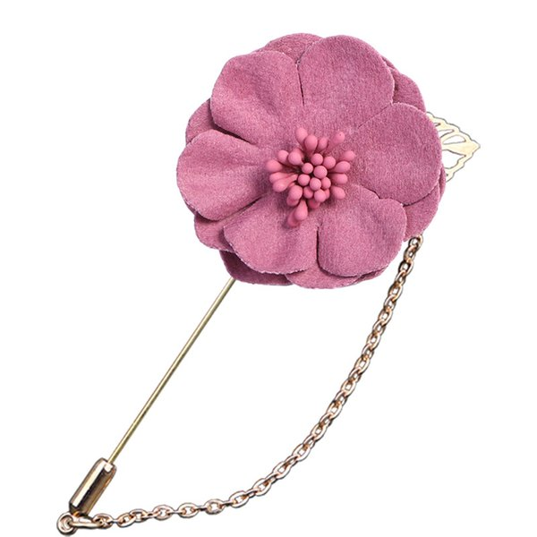 i-Remiel Fashion Badge Stick Long Needle Brooch For Men Shirt Collar Accessories Pin Flowers Cloth Art for Wedding Party