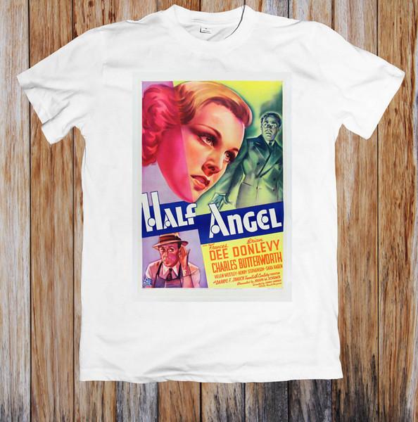 MEIO ANJO 1930's RETRO FILME POSTER UNISEX T-SHIRT new 2018 Moda Verão Casual T Camisa de Impressão de Manga Curta Casual Imprimir