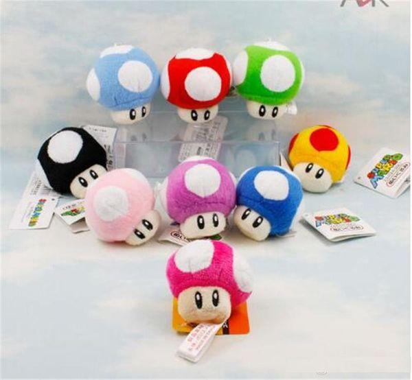 7 см Super Mario Bros Гриб брелок плюшевые игрушки мягкие мягкие куклы TO383