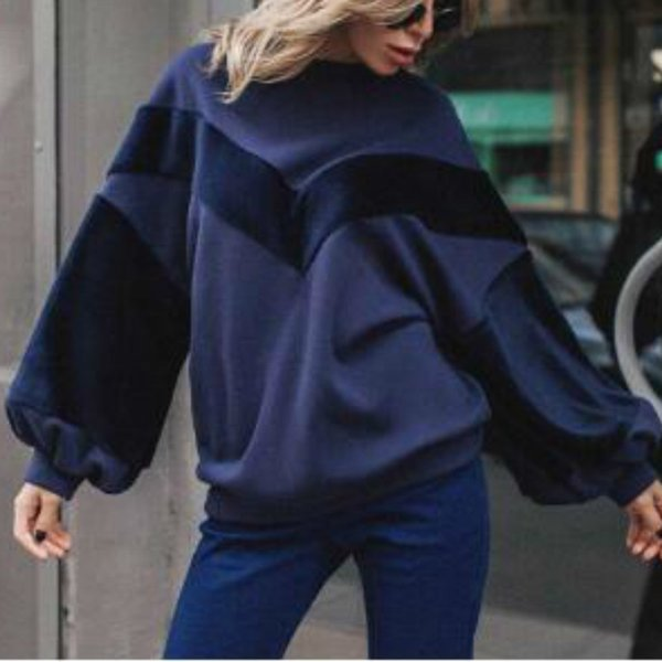 Female Plus Size Winter Hoodies Lantern Sleeve Tracksuit Harajuku Women Autumn Sweatshirt Pullover Hoody Outerwear Femme GV217