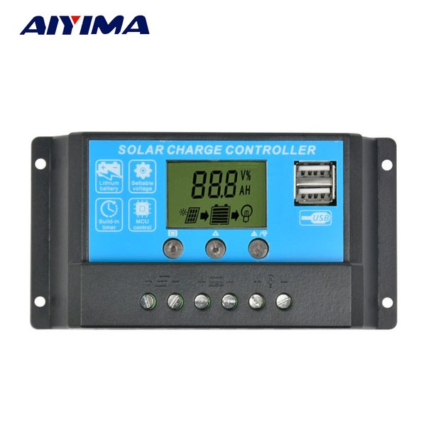 flexible AIYIMA Flexible Panel Controller 12V24V15A Painel Solar Battery Charger Regulator Switching Controller LCD Displyer
