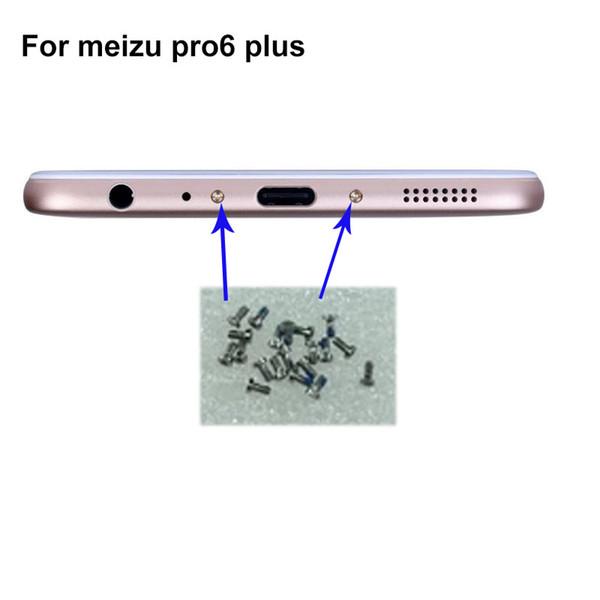 4PCS silver For Mei zu Pro6 plus Pro 6 plus Buttom Dock Screws Housing Screw nail tack ForMeizu Pro6 Pro 6 Mobile Phones