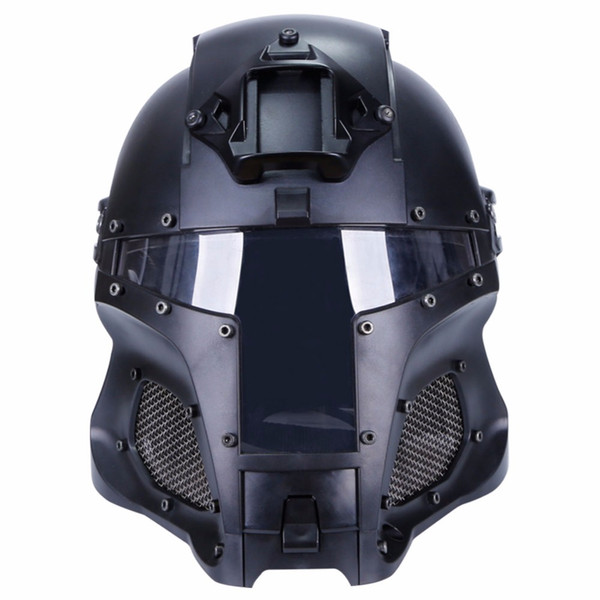top popular Outdoor Sports Combat Airsoft Paintball Tactical Helmet CS Tactical gear Side Rail NVG Shroud Transfer Base 6 colors 2021