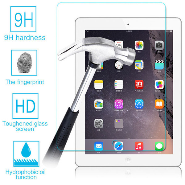 Ultra Thin 0.3mm 9H Premium Anti-shatter Tempered Glass Screen Protector Film For iPad mini 2 3 4 Air Air2 Pro 9.7 10.5