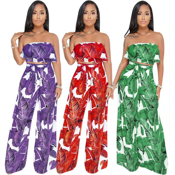 Beach Jumpsuits Holiday Lady Women Crop Top Midi Skirt Set Autumn Summer Sexy Jumpsuits Fashion Two Pieces Romper