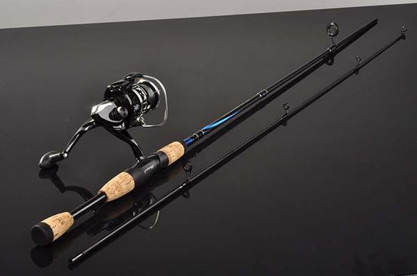 Vara De Pesca De Fiação De carbono M Poder Mão Equipamento De Pesca Isca De Pesca Isca Rod: 3-21g Casting Rod Canne Spinnng Leurre Pesca De Fiação