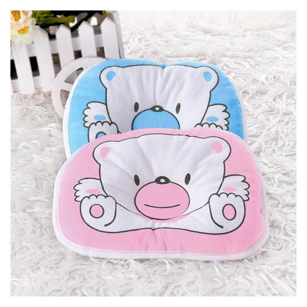 Lovely Newborn Infant Baby Bear Pattern Head Rest Flat Shaping Pillow Support Prevent Flat Head Cushion Baby Bedding Positioner