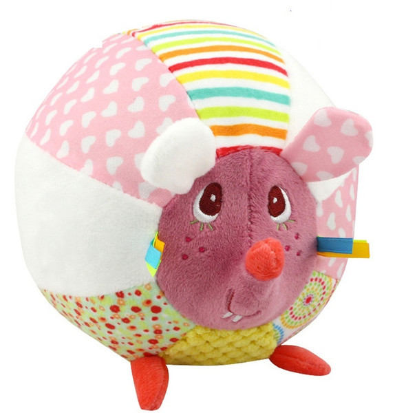 Newborn Baby Talking Toys Baby Plush Toys Creative Colorful Handball