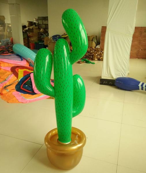 50 stücke Aufblasbare Kaktus Wild West Mexikanische Hawaiian Party Dekoration Tropische Pflanzen Bühnenparty Strand Dekor 95 cm freies verschiffen