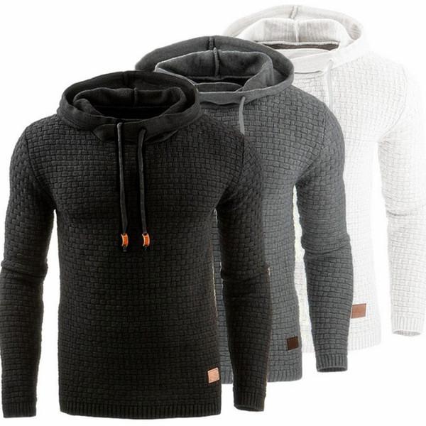 Hoodies Männer Marke Männlich Langarm Einfarbig Mit Kapuze Sweatshirt 2017 Herren Hoodie Trainingsanzug Sweat Coat Lässige Sportbekleidung S-4XL