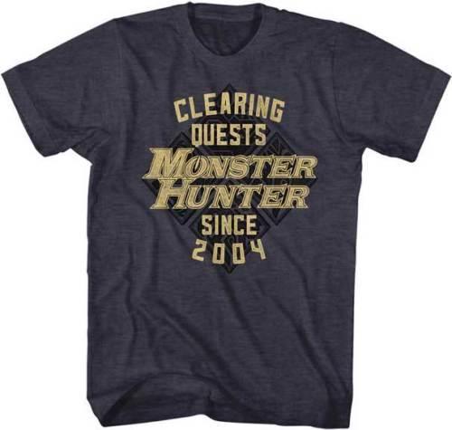 Подробнее zu Monster Hunter Clearing Задание с 2004 года Capcom Видеоигра для взрослых Футболка Смешная бесплатная доставка Унисекс Повседневная футболка в подарок