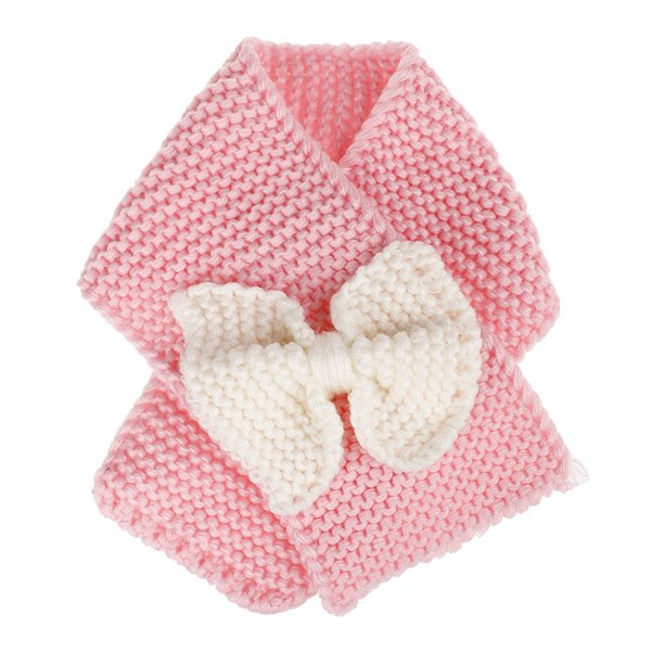 Fashion Children Scarf Kids Knitted Wool Scarf Warm Neck Scarves for Boy Girl Winter Big Bow Mufflers Clothing Accessories