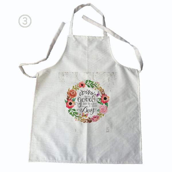 Очистка цветочный узор Мужчины Женщины белье хлопок кухня кулинария Фартук для пар очистки фартуки без рукавов фартук