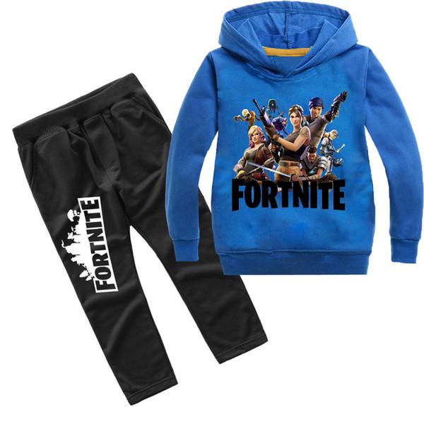 d927e5e9e Fortnite Tracksuit For Teenage Kid Clothing Set Fornite Big Boy Girl Hooded  Sweater Shirt+Trouser