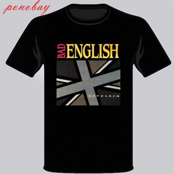 Nouveau Bad English Backlash Hard Rock Band Legend Tee shirt Homme noir taille S à 3XL