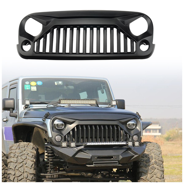 Replacement Grill for Jeep Wrangler 2007-2017, Including Rubicon, Sahara and Sport, 2-Door and 4-Door (Fury Grille)