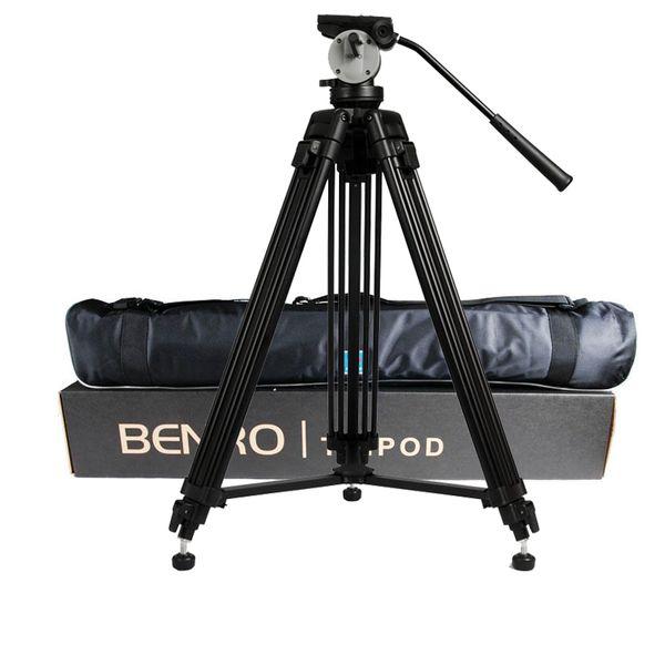 Großhandel DHL Pro BENRO KH25N KH-25N Videokamera Stativ Professionelle Hydraulische Kopf Magnesiumlegierung Stativ + Video Stative Tasche