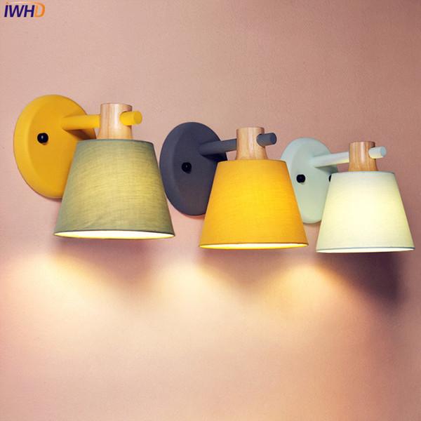 IWHD Nordic Moderne Wandleuchte Für Schlafzimmer Wohnzimmer Bad Neben Lampe Kreative Einfache LED Wandleuchten Wandlampen Arandela