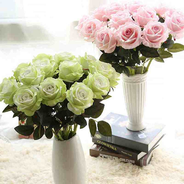 1pc Free Shipping beautiful Fresh rose Artificial Flowers Real Touch rose Flowers Home decorations for Wedding Party or Birthday