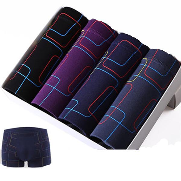 4pcs Mens Printed modal Boxer Men Boxer Shorts Boxers Mens Underwear underpants waist 63-155cm 2XL-7XL