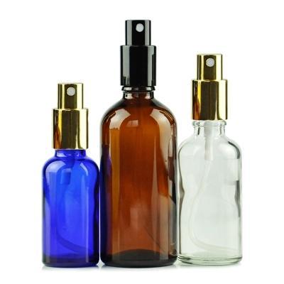 20pcs 30 ml de brasas de espray de vidrio de color verde claro azul con tapa de oro negro de DHL