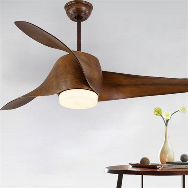 52 polegadas Modern simples sala de jantar ventilador pingente luz controle remoto ventilador de teto luz decorativa sala de estar quarto luz