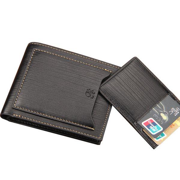 Men Luxury Small Wallet Short Purse Money Bag PU Leather Pocket Cuzdan Main Pochette Carteras Portfolio Design Clutch