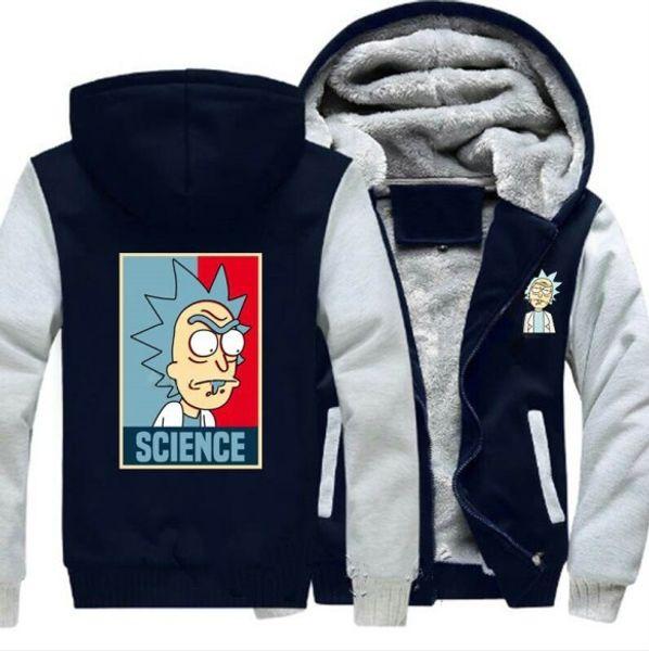 Nuovo stile Felpe con cappuccio Rick e Morty Kuso Con giacca da baseball in cashmere Felpe con cappuccio unisex Inverno caldo ispessimento Abbigliamento sportivo, taglia USA