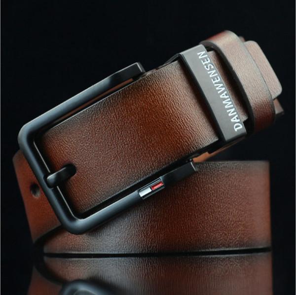 Diseño simple para hombre Cinturón de cuero de imitación Diseñador Pin Hebilla Marca PU de cuero para hombre Cinturón Ceinture masculino para la boda de negocios fiesta