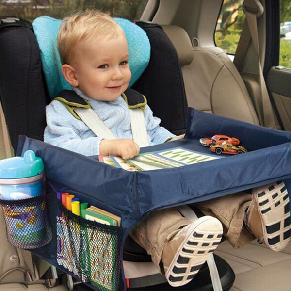 top popular 2PCS Waterproof table Car Seat Traval Storage Kids Toys Infant Stroller Holder for Children dining and drink table 40*32cm 2019