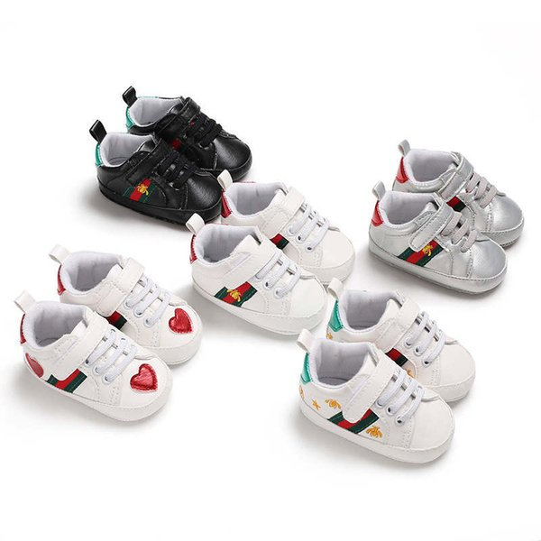 Retail Spring and Autumn Sport Baby Shoes Newborn Boys Girls First Walker Shoes Infant Prewalker Shoes 44C