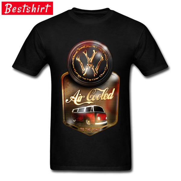 Air Cooled To The Bone Auto Bus Tshirt On Sale Custom Shirt 2018 New Arrival Fashion Punk T Shirt Round Collar Cotton Tops Tees