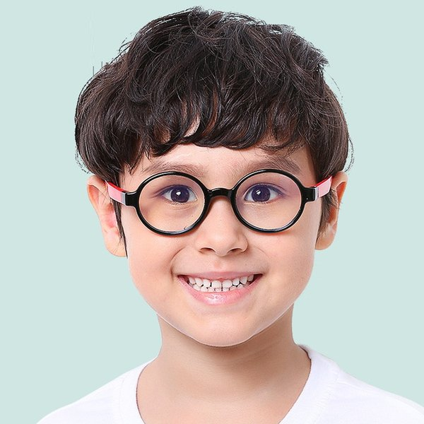 Children Silicone Computer Glasses Round for Boys Girls Anti Blue Light Ray Radiation Eye Protect UV400 Child Goggles