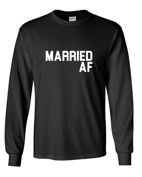 Мужская с длинным рукавом женат АФ рубашка смешные Валентина футболка День Святого Валентина подарок