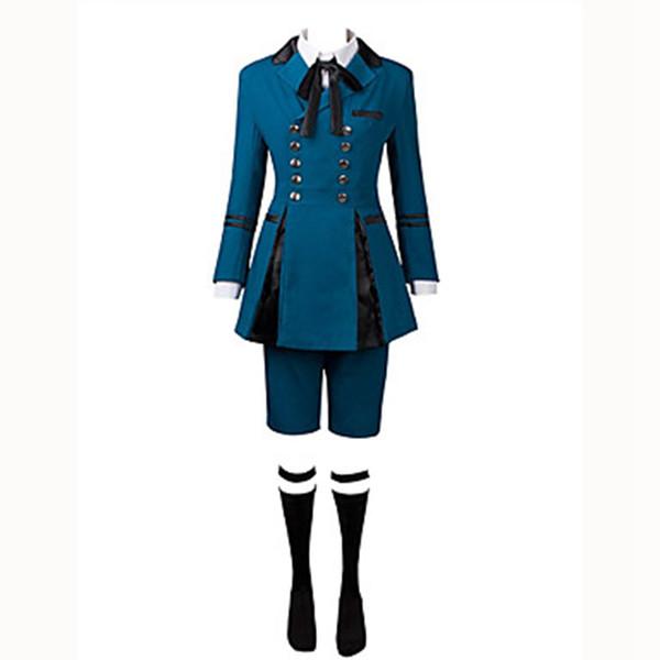 Card Captor SAKURA Snow Clown Cos Cosplay Costume Blue Lolita Coat Free Shipping