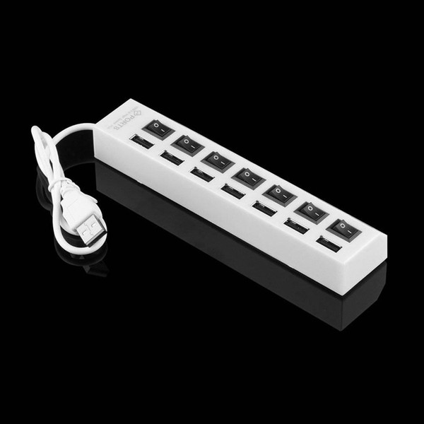 ON/OFF Sharing Switch Mini 7 Port USB 2.0 High Speed HUB For Laptop Computer Tablet