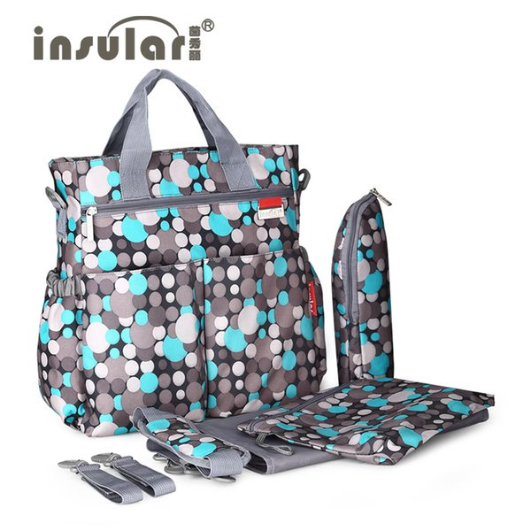 Insular Large Capacity Diaper Bag Mommy Maternity Baby Nappy Bag Nursing Bag Multifunctional Backpack Baby Care For New Parent