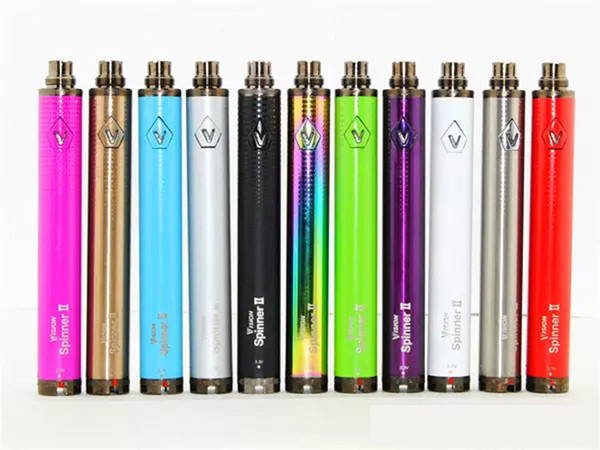 Vision Spinner 2 II 1650mah Ego Twist Type Variable Voltage Battery W/ Charger E Cig Electronic Cigarettes Fit 510 eGo atomizer Clearomizer