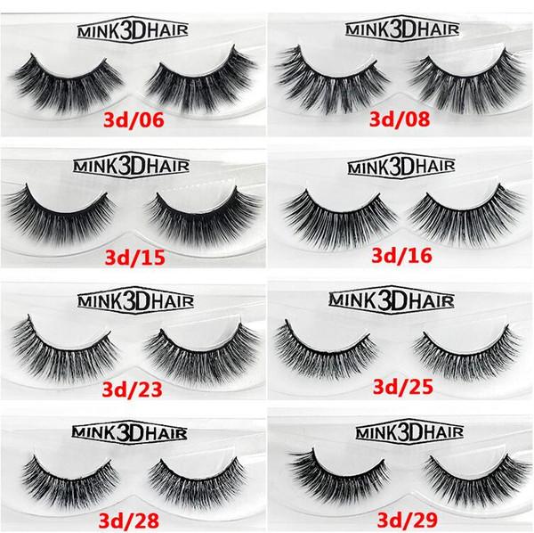 Cruelty Individual Eyelashes 12 Style False Eyelashes 3D Mink Lashes Thick Hand-Made Mink Natural Eyelashes Full Strip Lashes