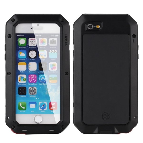 timeless design 2dab6 423ef Waterproof Shockproof Aluminum Gorilla Glass Metal Cover Case For  Iphone6/6s Iphone Silicone Border Metal Case Cell Phone Pouches Customized  Cell ...