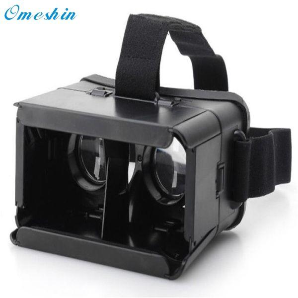 Top Selling! 2017 Popular For Google Cardboard Plastic Version VR Universal Virtual Reality 3D Glasses high quality Feb27