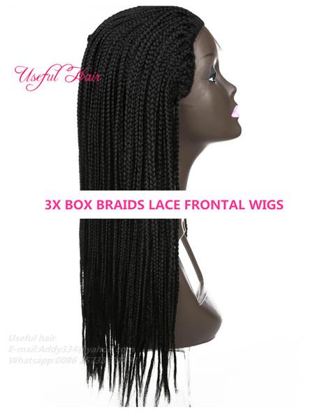 22inch black box braids lace wig