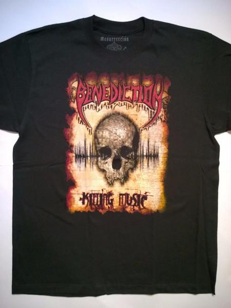 BENEDICTION Große T-Shirt Sinister Grave Asphyx entfesselt Malevolent Creation Print Tee Männer Kurzarm Kleidung TOP TEE