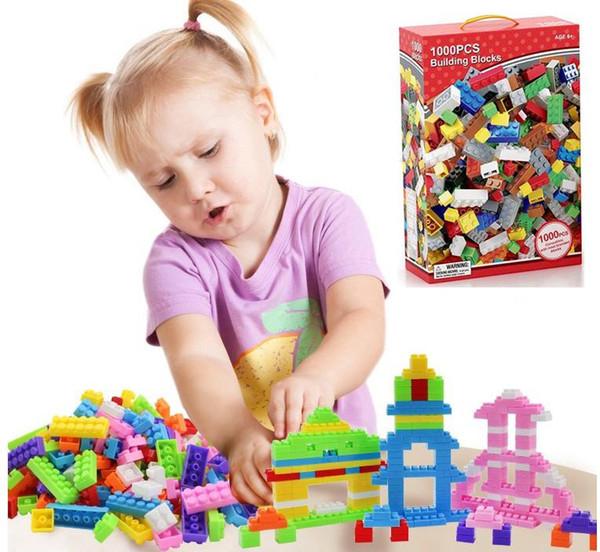 1000PCS Australia Rainbow Building Blocks DIY Small Particles Assembled Science and Education Children Play Block Puzzle Kids Toys Wholesale