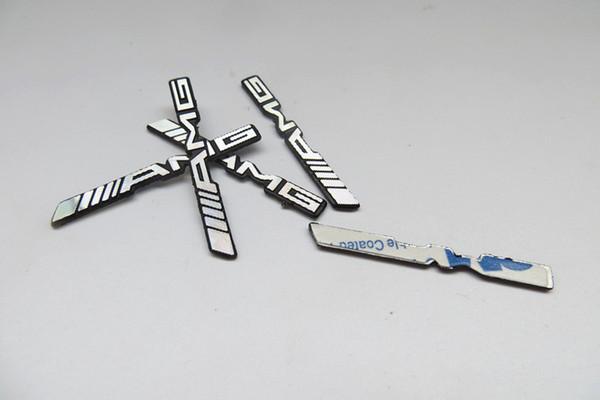 100 teile / los 3D metall für amg Aluminium Auto lenkrad emblem aufkleber audio Lautsprecher auto aufkleber auto styling abzeichen logo cardoor dekoration