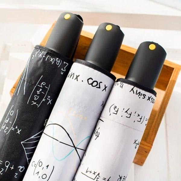 Three-folding black coating Umbrella/Geometric figure/High quality/3 colors for choose/amphibious for women and men/sun block/UV protection