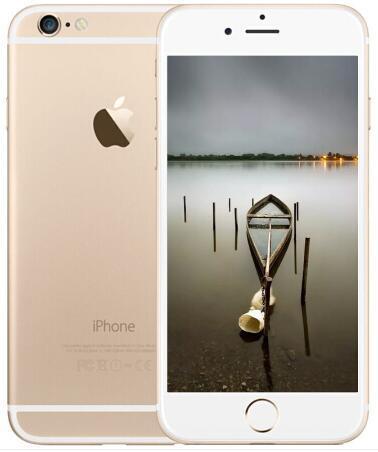 Unlocked orijinal Apple iPhone 6 parmak izi telefon olmadan 4.7 inç Çift Çekirdekli 16G / 64G / 128 GB Rom IOS 3G 8MP Kamera yenilenmiş telefon