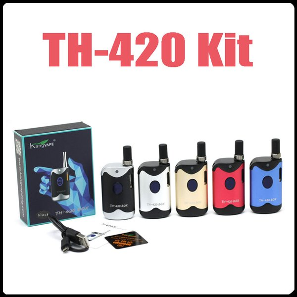 New Vape Box TH-420 Box Kits A3 Cartridges G2 Atomizer Cartridges Vape Pen Starter Kits 650mAh Variable Voltage Battery Free DHL