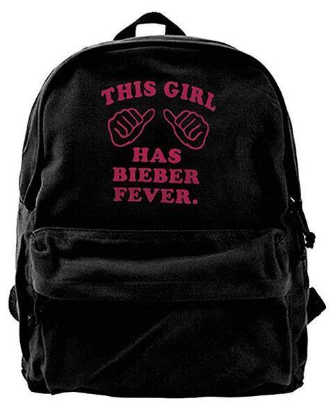 This Girl Love JUSTIN BIEBER Fashion Canvas Shoulder Backpack For Men & Women Teens College Travel Daypack designer backpack duffle bag